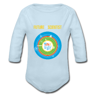 Baby & Toddler Shirts ~ Baby Long Sleeve One Piece ~ Baby Future Scientist Long Sleeve  (Front Design Only)