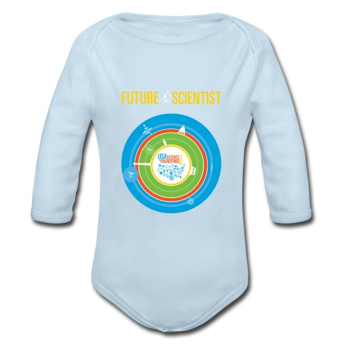 Baby Future Scientist Long Sleeve  (Front Design Only) - Organic Long Sleeve Baby Bodysuit