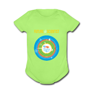 Baby Bodysuits ~ Baby Short Sleeve One Piece ~ Baby Future Scientist  (Front Design Only)