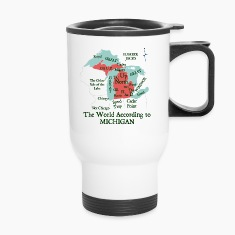 The World According To Michigan Bottles & Mugs