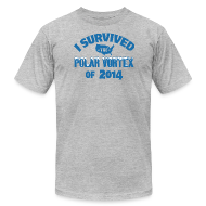 T-Shirts ~ Men's T-Shirt by American Apparel ~ I Survived The Polar Vortex