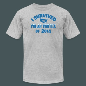 I Survived The Polar Vortex - Men's T-Shirt by American Apparel