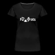 Women's T-Shirts ~ Women's Premium T-Shirt ~ TheFunnyrats Black