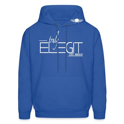 Truly Elegit Hoodie (Blue/White) - Men's Hoodie