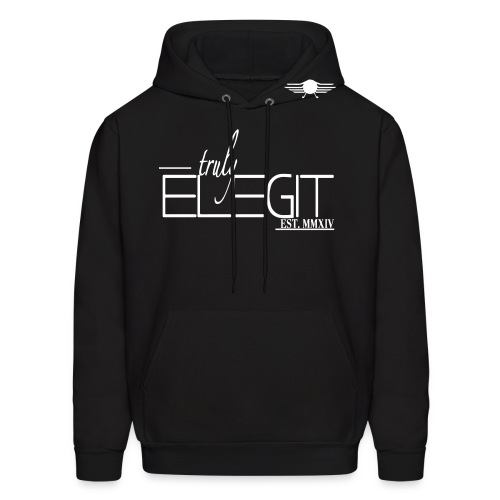 Truly Elegit Hoodie (Black) - Men's Hoodie