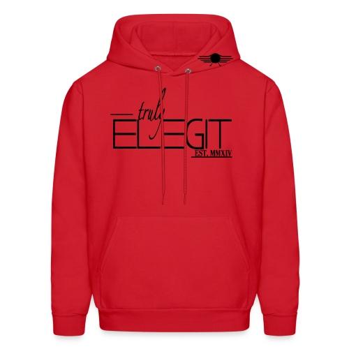 Truly Elegit Hoodie (Red) - Men's Hoodie