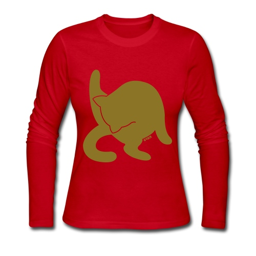 Golden Cat - Women's Long Sleeve Jersey T-Shirt