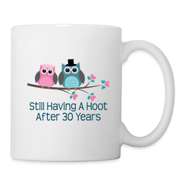 30th Anniversary Owl Couple Bottles & Mugs