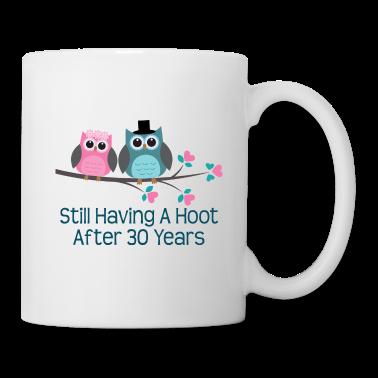 30th Anniversary Owl Couple Bottles & Mugs