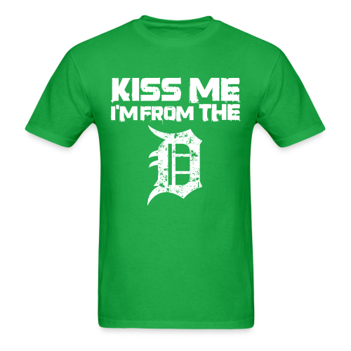 KISS ME I'M FROM THE D - Men's T-Shirt