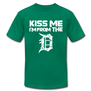 KISS ME I'M FROM THE D - Men's Fine Jersey T-Shirt