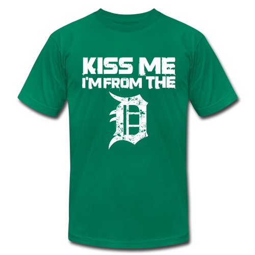 KISS ME I'M FROM THE D - Men's  Jersey T-Shirt