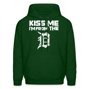 KISS ME I'M FROM THE D - Men's Hoodie