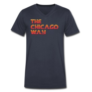 The Chicago Way - Men's V-Neck T-Shirt by Canvas