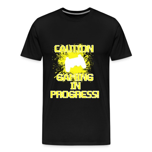 Caution Gaming In Progress shirt - Men's Premium T-Shirt