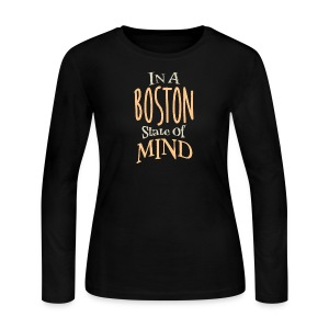 In A Boston State of Mind - Women's Long Sleeve Jersey T-Shirt