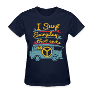 T-Shirts ~ Women's T-Shirt ~ Surf Daily