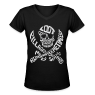 Women's T-Shirts ~ Women's V-Neck T-Shirt ~ Talk Like A Pirate Day Official Tee