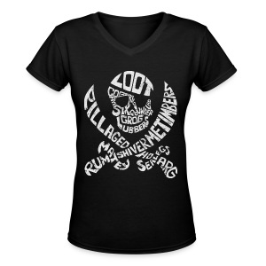Talk Like A Pirate Day Official Tee - Women's V-Neck T-Shirt