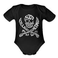 Baby Bodysuits ~ Baby Short Sleeve One Piece ~ Talk Like A Pirate Day Official Tee