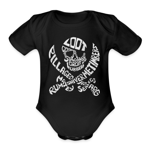 Talk Like A Pirate Day Official Tee - Organic Short Sleeve Baby Bodysuit