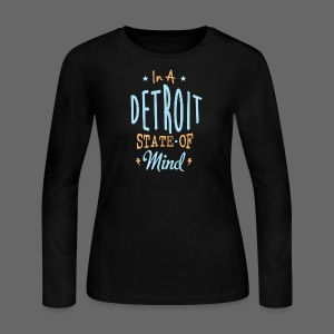 A Detroit State Of Mind - Women's Long Sleeve Jersey T-Shirt