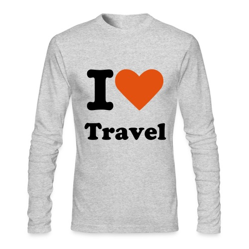 I Heart Travel Men's Long Sleeve - Men's Long Sleeve T-Shirt by Next Level