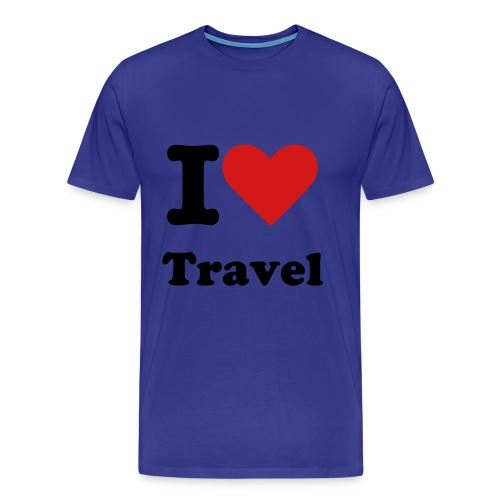 I Heart Travel Men's Tee - Men's Premium T-Shirt