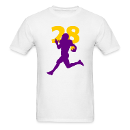 T-Shirts ~ Men's T-Shirt ~ Peterson Superstar #28 Vikings Shirt