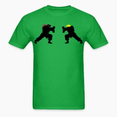 Ryu and Ken Hadouken Silhouettes T-Shirts