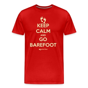 Keep Calm, Go Barefoot - Men's Tee - Men's Premium T-Shirt