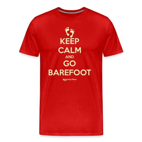 Keep Calm, Go Barefoot - Men's Tee - Men's Premium T-Shirt