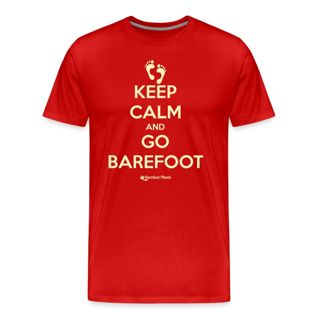 Keep Calm, Go Barefoot - Men's Tee