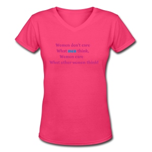 Women's t-shirt with funny quotes - Women's V-Neck T-Shirt