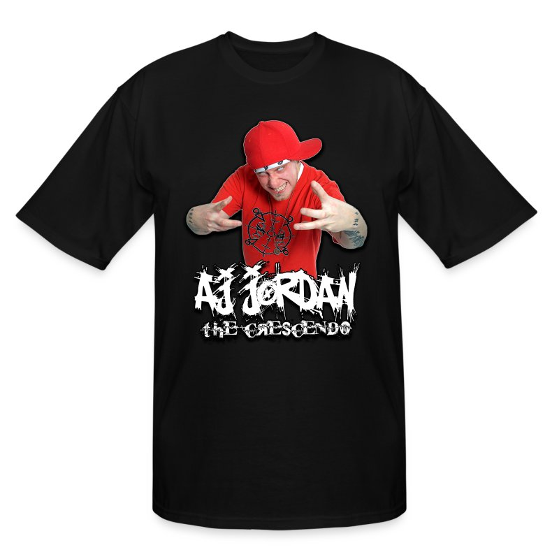 AJ Jordan Red Hat Design PNG - Men's Tall T-Shirt