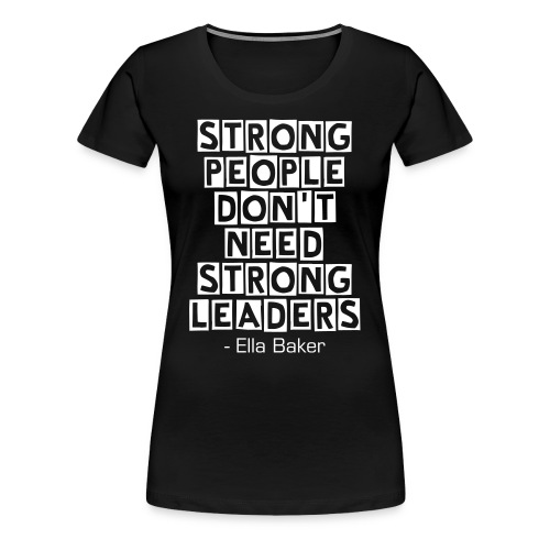 Strong People BLK - Womens - Women's Premium T-Shirt