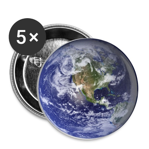 Planet Earth Large Button  - Large Buttons