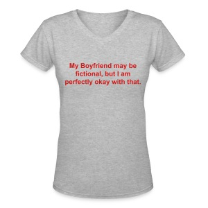 Fictional Boyfriend - Women's V-Neck T-Shirt