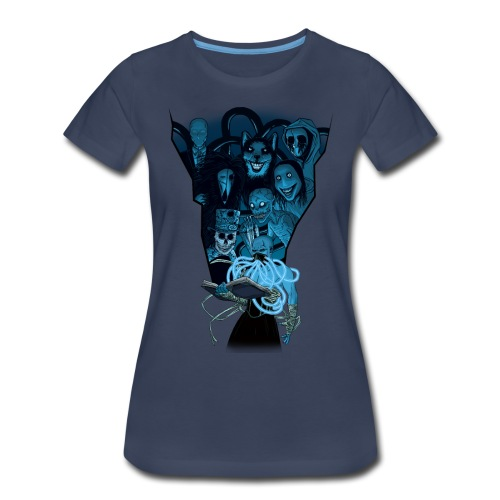 Mr. Creepypasta Shirt (Ladies, Navy) - Women's Premium T-Shirt