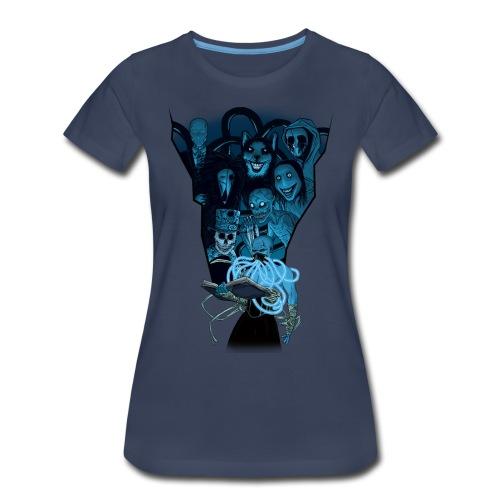 Mr. Creepypasta Shirt (Ladies, Navy) - Women's Premium T-Shirt