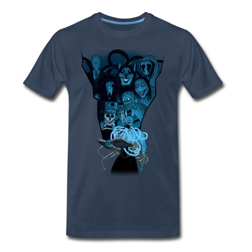 Mr. Creepypasta Shirt (Navy) - Men's Premium T-Shirt