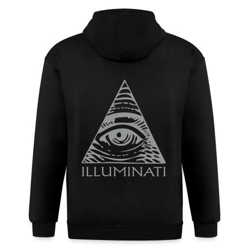 Illuminati sweat shirt - Men's Zip Hoodie