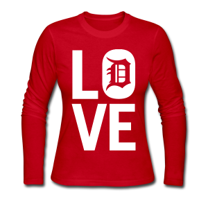 DETROIT LOVE - Women's Long Sleeve Jersey T-Shirt