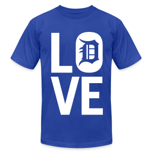 DETROIT LOVE - Men's T-Shirt by American Apparel