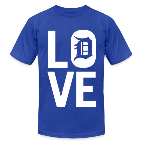 DETROIT LOVE - Men's  Jersey T-Shirt