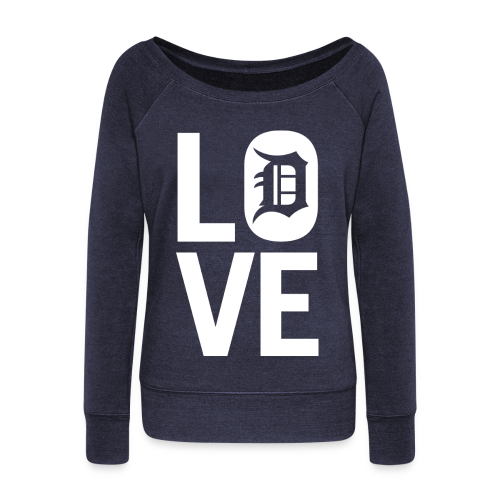 DETROIT LOVE - Women's Wideneck Sweatshirt