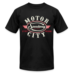 MOTOR CITY SPEEDWAY - Men's T-Shirt by American Apparel