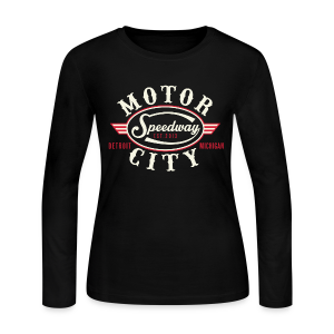 MOTOR CITY SPEEDWAY - Women's Long Sleeve Jersey T-Shirt