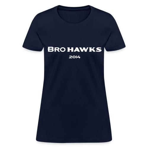 Brohawks Women's T-shirt Navy - Women's T-Shirt