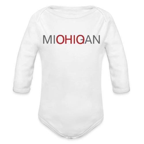 Michigan - Ohio Baby Long Sleeve One Piece - Organic Long Sleeve Baby Bodysuit